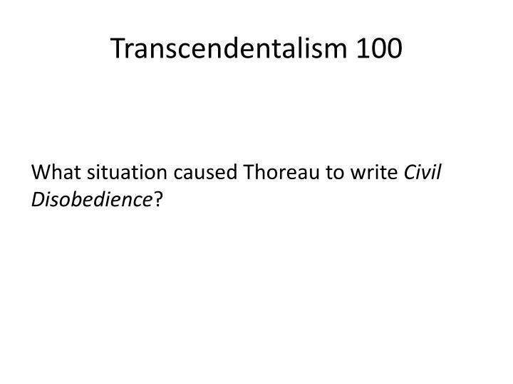 Transcendentalism 100