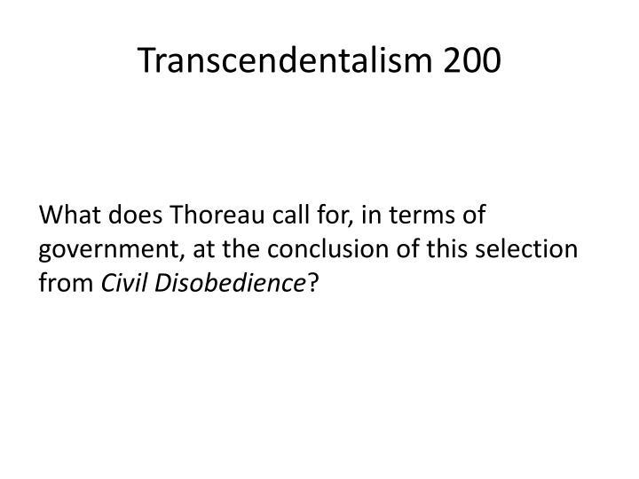 Transcendentalism 200