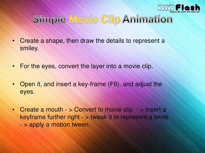 Simple movie clip animation