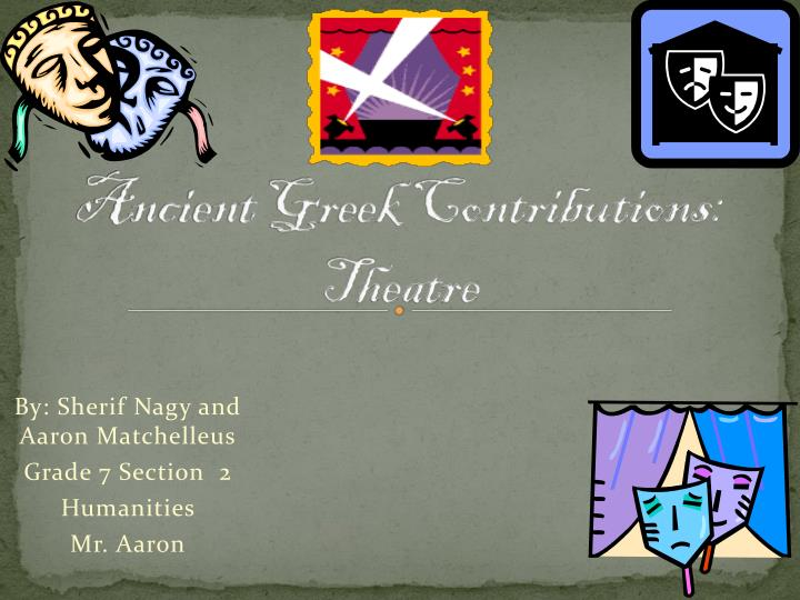 Ancient greek contributions theatre