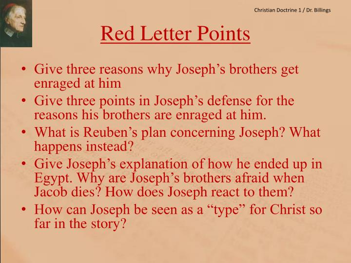 Red letter points