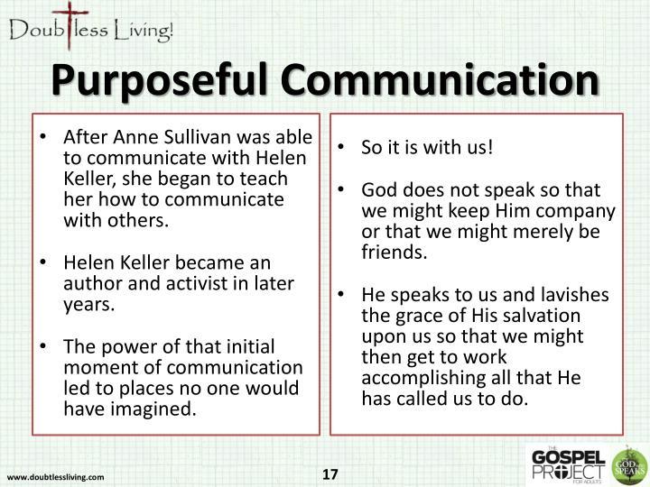 Purposeful Communication