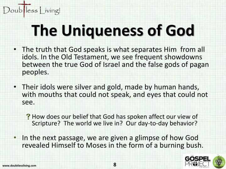 The Uniqueness of God