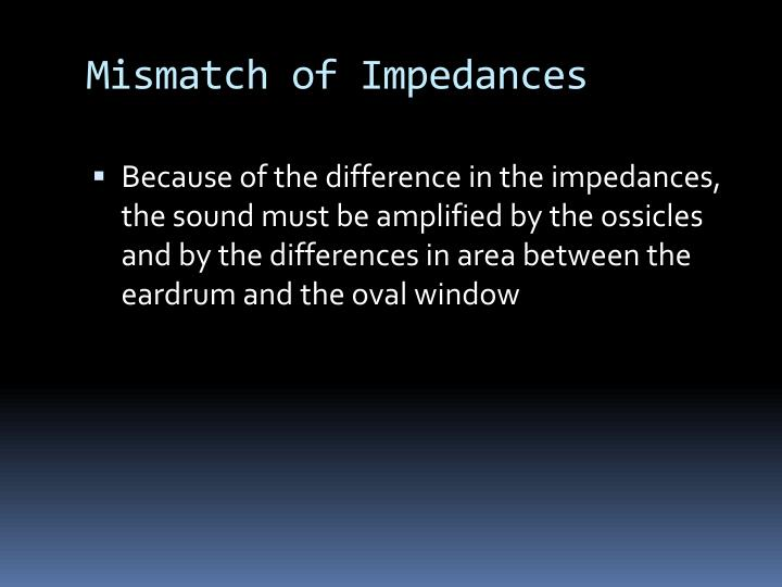 Mismatch of Impedances
