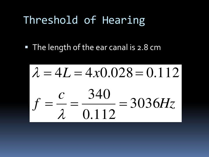 Threshold of Hearing