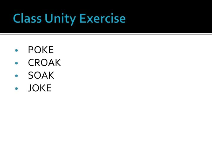 Class Unity Exercise