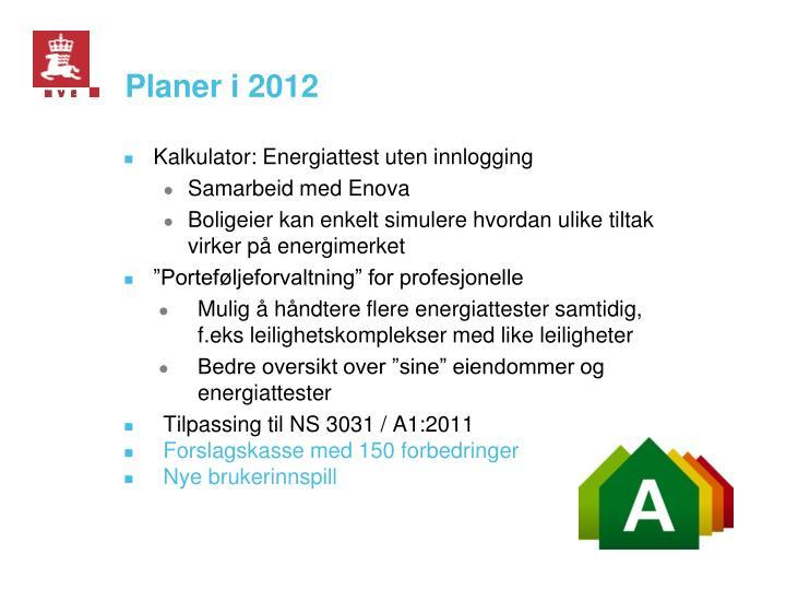 Planer i 2012