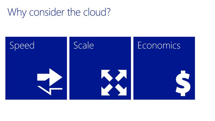 Why consider the cloud