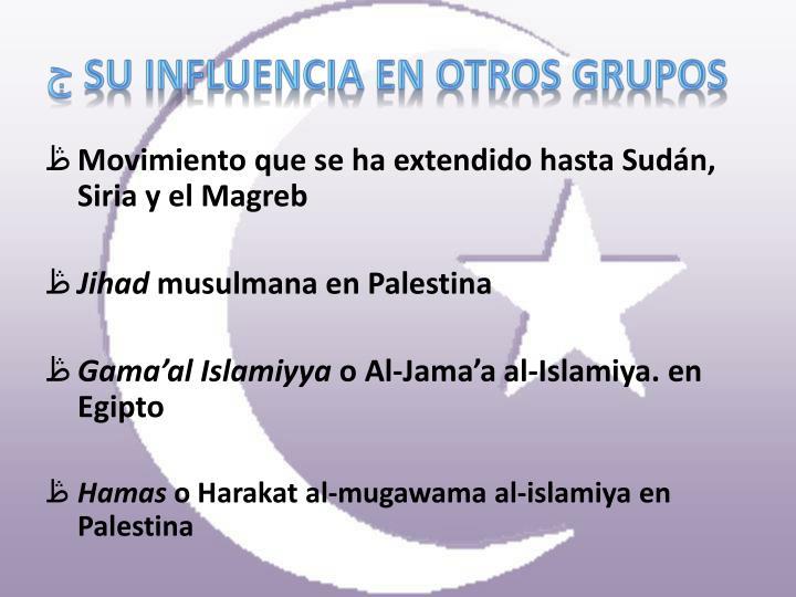Su influencia en otros grupos