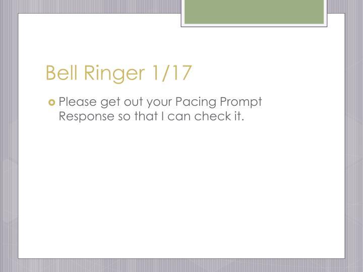 Bell Ringer 1/17