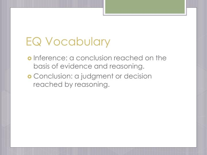 EQ Vocabulary