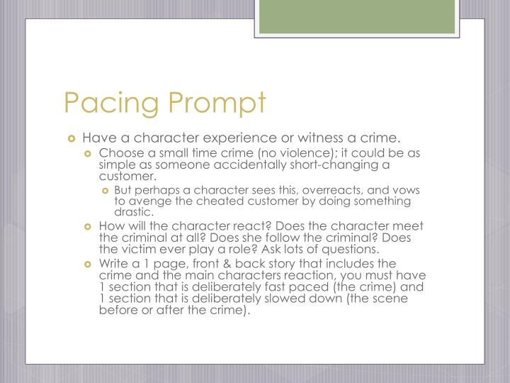Pacing Prompt
