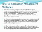 total compensation management strategies