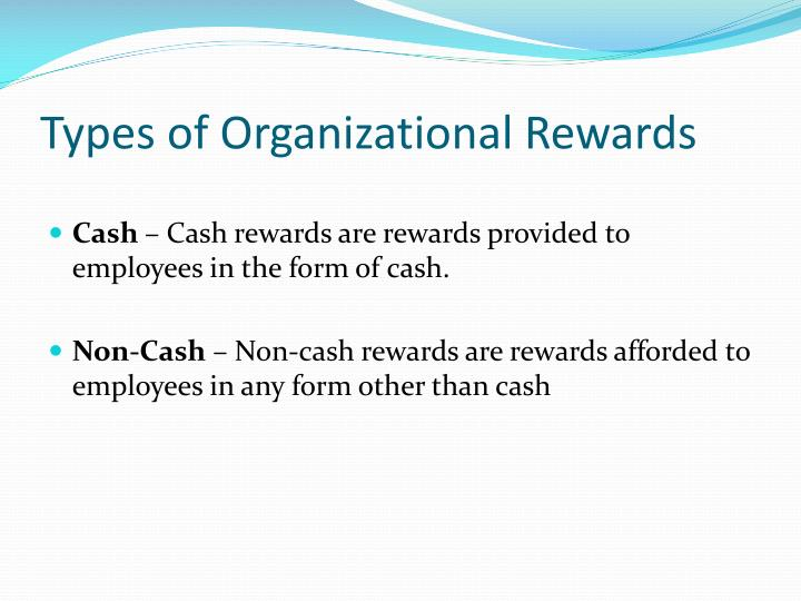 Types of organizational rewards