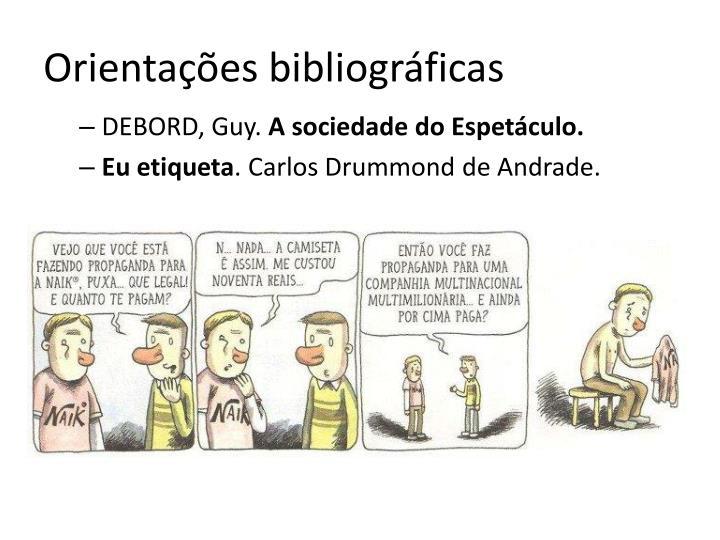 Orientações bibliográficas