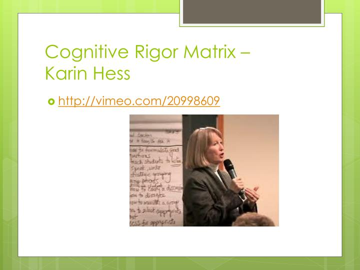 Cognitive Rigor Matrix –