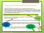 how to read the grade level standards standards p 5