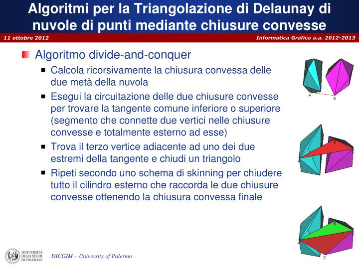 Algoritmi per la Triangolazione di