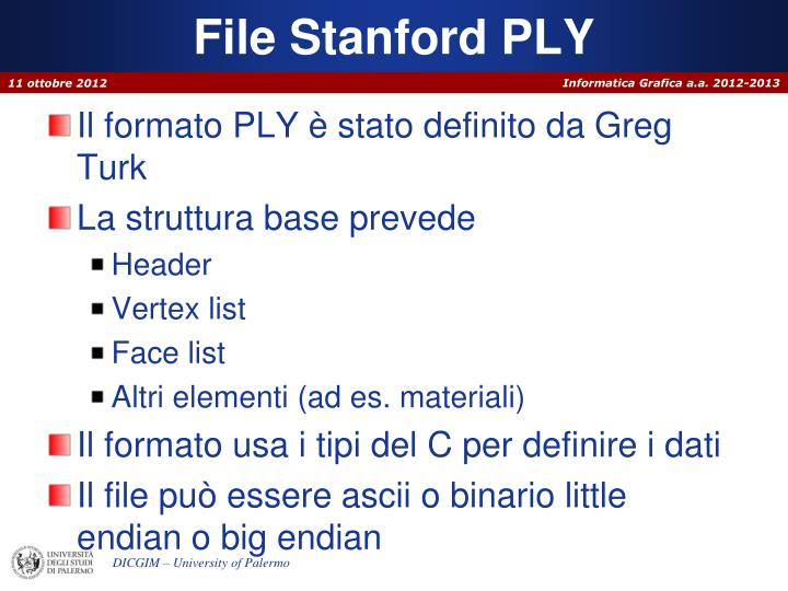 File Stanford PLY