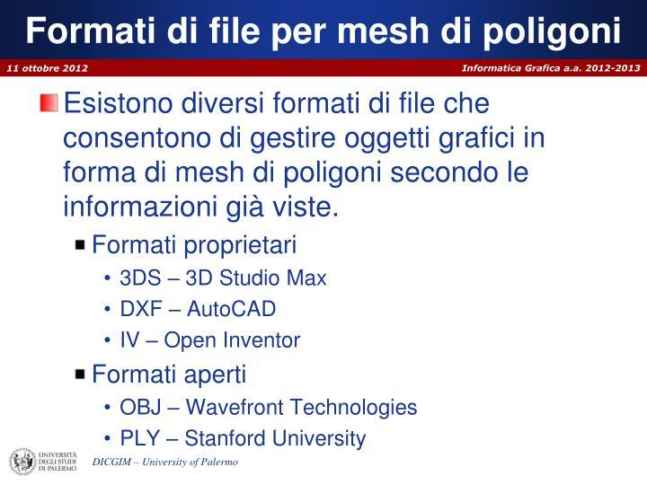Formati di file per