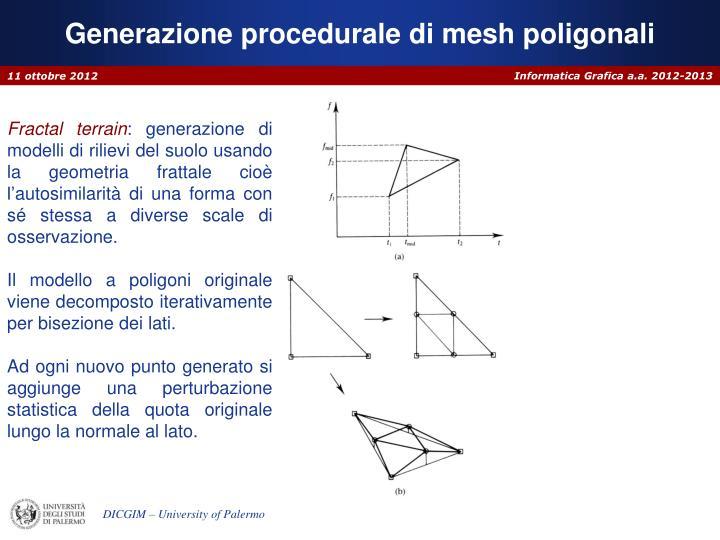 Generazione procedurale di