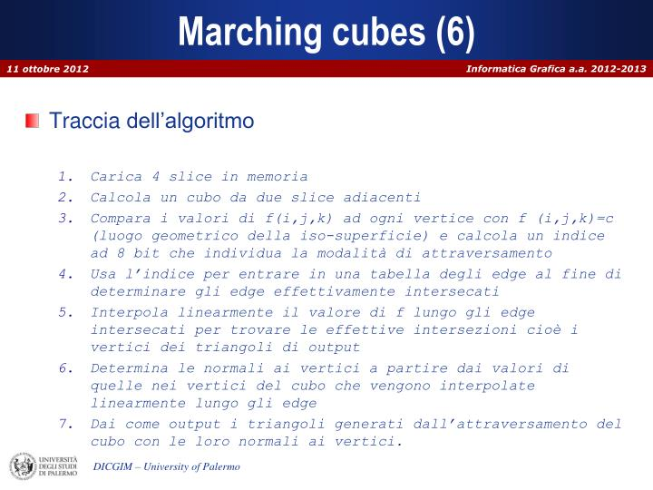 Marching cubes (6)