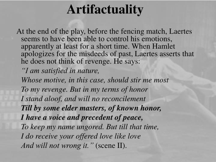 Artifactuality