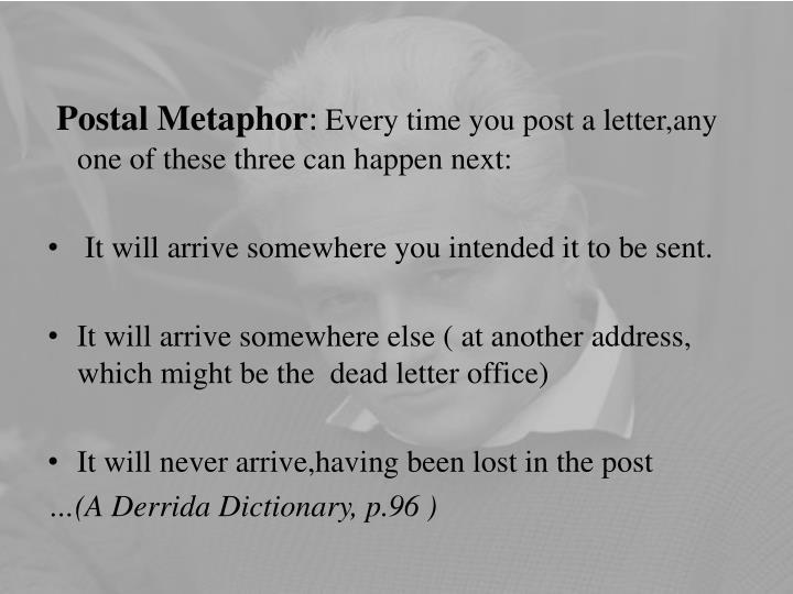 Postal Metaphor