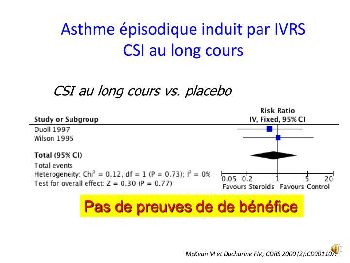Asthme épisodique induit par IVRS