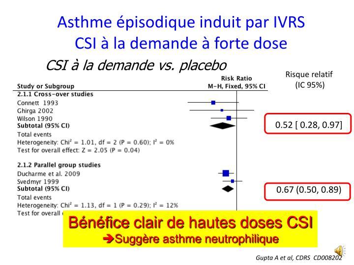 Asthme épisodique induit par