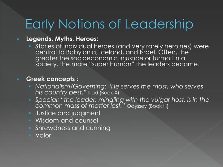 Early notions of leadership