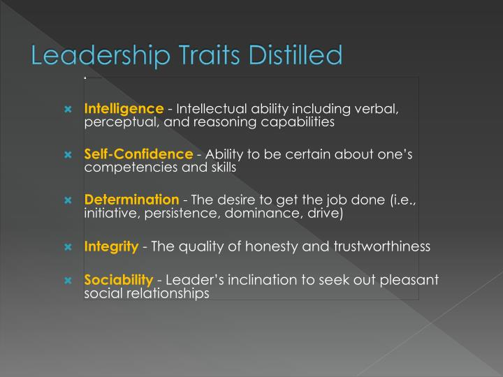 Leadership Traits Distilled