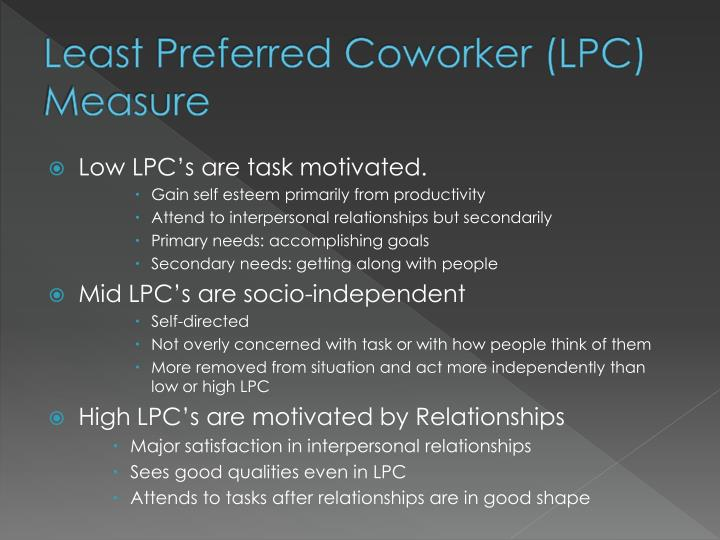 Least Preferred Coworker (LPC) Measure