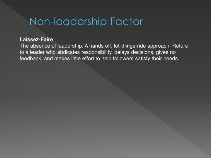 Non-leadership Factor