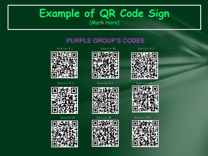 Example of QR Code Sign