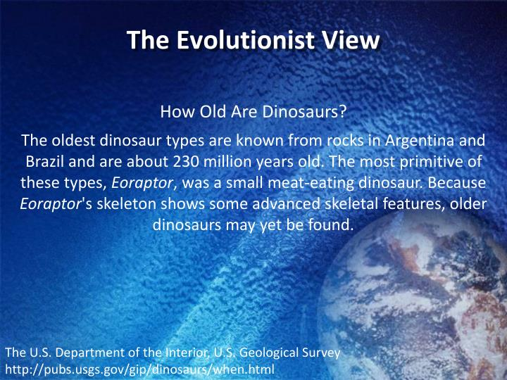 The Evolutionist View