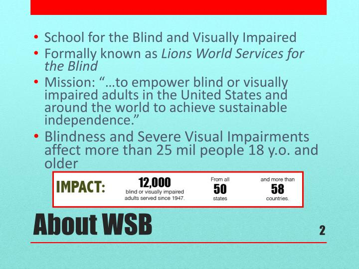 School for the Blind and Visually Impaired