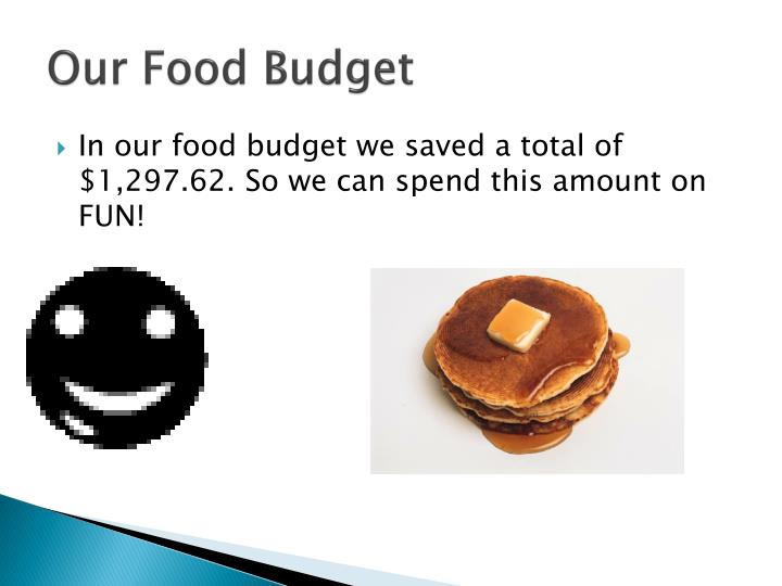 Our food budget