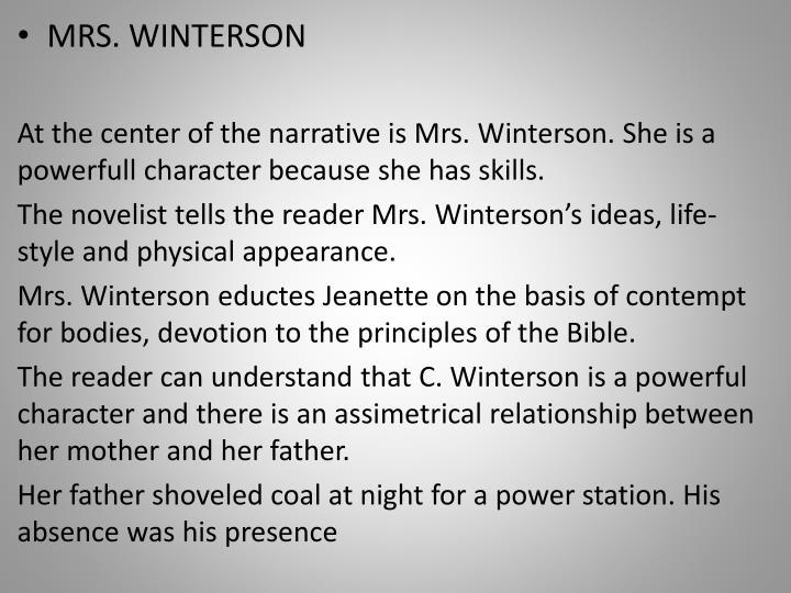 MRS. WINTERSON