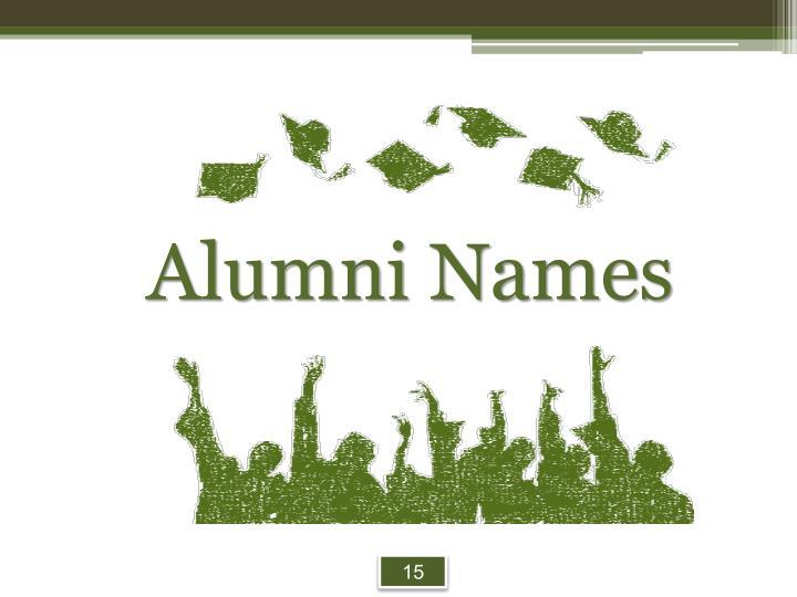 Alumni Names