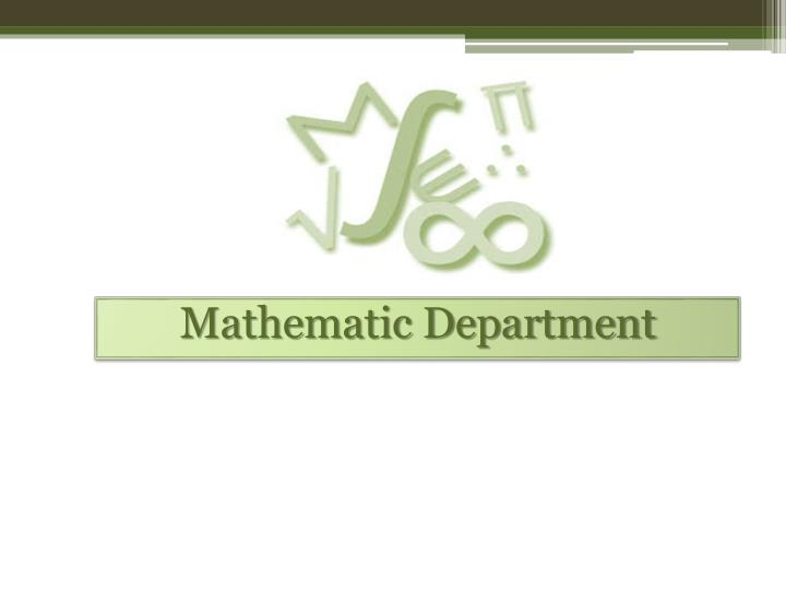 Mathematic Department