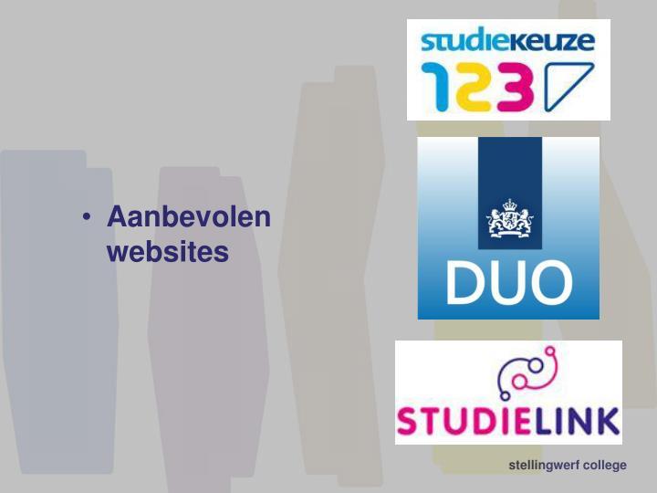 Aanbevolen websites