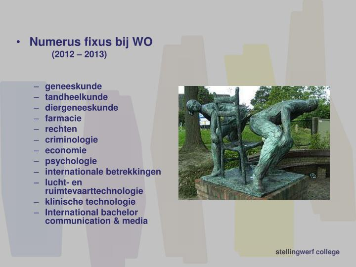 Numerus fixus bij WO