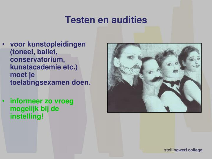 Testen en audities