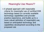 meaningful use means