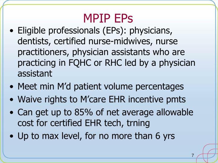 MPIP EPs