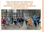 the purpose of physical education lessons to develop systematic physical activity skills