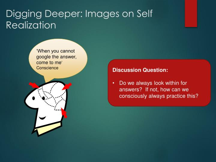 Digging Deeper: Images on Self Realization