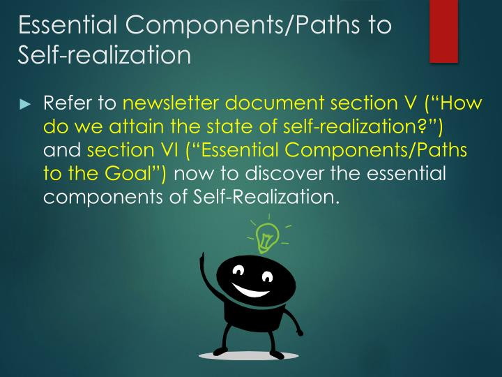 Essential Components/Paths to