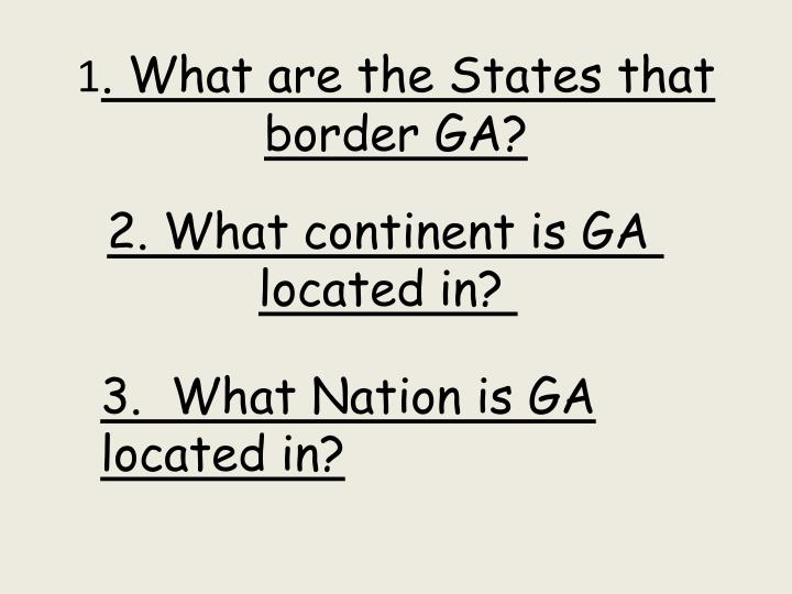 1 what are the states that border ga